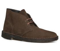 Herren Schuhe Desert Boots, Veloursleder, schokobraun