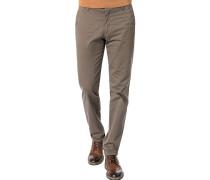 Hose Chino Extra Slim Fit Baumwolle khaki