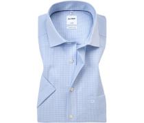 Herren Hemd, Comfort Fit, Baumwolle, bleu blau