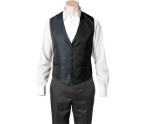 Herren Anzug Weste, Slim Line, Seidenimitat, nachtblau gemustert