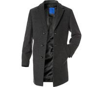 Herren Kurzmantel Mariso Woll-Mix mit Kaschmir grau-schwarz meliert grau,grau
