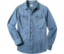 Herren Jeanshemd Regular Fit indigo blau