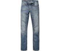 Herren Jeans Slim Fit Baumwolle 11oz denim