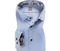 Hemd Custom Fit Baumwolle hell meliert
