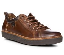 Herren Schuhe Sneaker, Leder, kastanienbraun