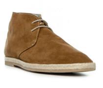 Herren Schuhe Desert Boots, Veloursleder, braun