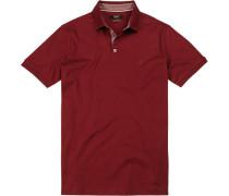 Herren Polo-Shirt, Baumwoll-Jersey, bordeaux rot