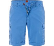 Herren Hose Cargoshorts Regular Fit Baumwolle blau