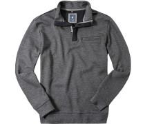 Herren Sweatshirt Baumwolle grau gemustert