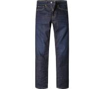 Herren Jeans Regular Fit Baumwoll-Stretch dunkel