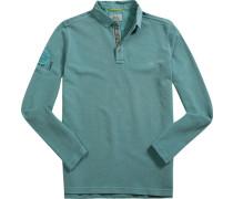 Herren Polo-Shirt, Baumwoll-Piqué, mintgrün