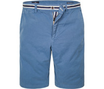 Herren Bermudashorts Baumwolle jeansblau
