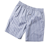 Herren Schlafanzug Pyjama Shorts Baumwolle navy-grau gestreift blau,grau