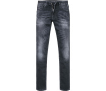 Herren Jeans Slim Fit Baumwoll-Stretch nacht