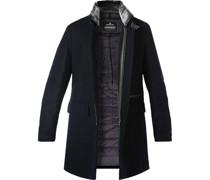 Mantel Hampton Wolle Kunstfell nacht