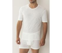 Herren 'Wool & Silk' Shirt Wolle-Seide anthrazit meliert oder naturweiß grau