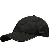 Herren Cap Microfaser schwarz