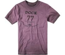 Herren T-Shirt Baumwolle beere violett