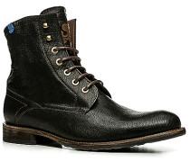 Herren Schuhe Stiefeletten Kalbleder warm gefüttert schwarz