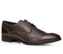 Herren Schuhe Derby Leder dunkel