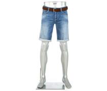 Jeansshorts Regular Slim Fit Baumwoll-Stretch