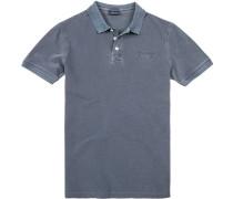 Herren Polo-Shirt, Baumwoll-Piqué, dunkelblau