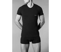Herren T-Shirt Baumwoll-Mix schwarz