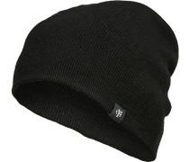 Herren Mütze Schurwolle schwarz