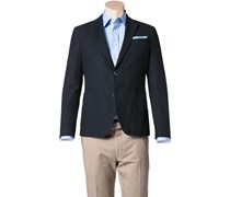 Herren Jersey-Sakko Regular Fit Baumwolle halbgefüttert navy blau