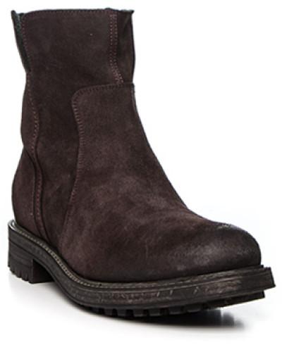 Schuhe Stiefeletten, Veloursleder, dunkel