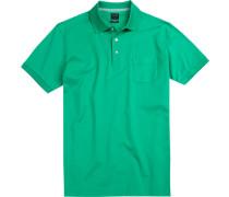 Herren Polo-Shirt, Modern Fit, Baumwoll-Piqué, grün