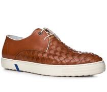 Herren Schuhe Sneaker Leder cognac braun