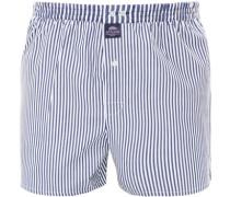 Herren Unterwäsche Boxershorts, Baumwolle, blau-weiß gestreift