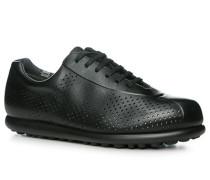 Herren Schuhe Sneaker Leder schwarz schwarz,grau