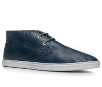 Herren Schuhe Desert Boots, Nappaleder, navy blau