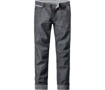 Herren Jeans Robin, Slim Fit, Baumwolle, graublau