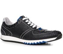 Herren Schuhe Sneaker Leder navy blau,weiß