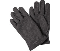 Herren GANT Handschuhe Woll-Mix anthrazit meliert grau