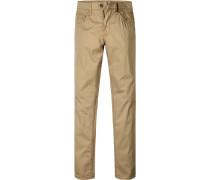 Herren Jeans Straight Fit Baumwoll-Stretch sand