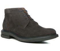 Herren Schuhe Desert-Boots, Veloursleder, braun