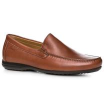 Herren Schuhe Slipper Kalbnappa cognac braun