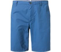 Herren Hose Bermudashorts, Baumwolle, blau