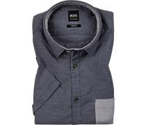 Kurzarmhemd Regular Fit Baumwolle  meliert