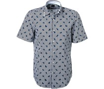 Kurzarmhemd, Regular Fit, Baumwolle-Leinen