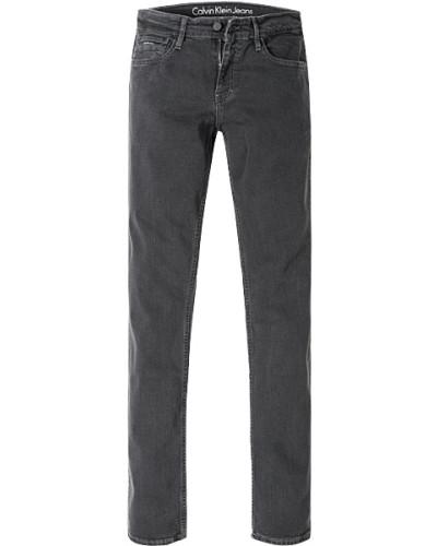 Jeans, Slim Straight, Baumwoll-Stretch, anthrazit