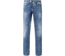 Herren Jeans Slim Straight Baumwoll-Stretch jeans