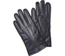 Herren  Handschuhe Lammleder navy blau