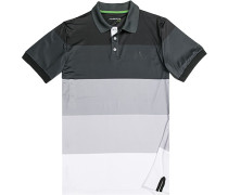 Herren Polo-Shirt, Microfaser Drycomfort®, schwarz-grau gestreift