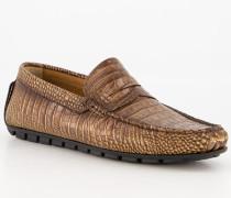 Schuhe Mokassins Leder cognac