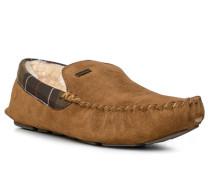 Herren Schuhe Mokassin Velourleder camel braun